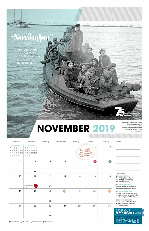 2019 D-DAY Wall Calendar – Special 75th Anniversary
